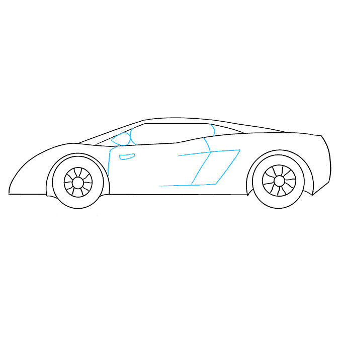 How to Draw Lamborghini: Step 8