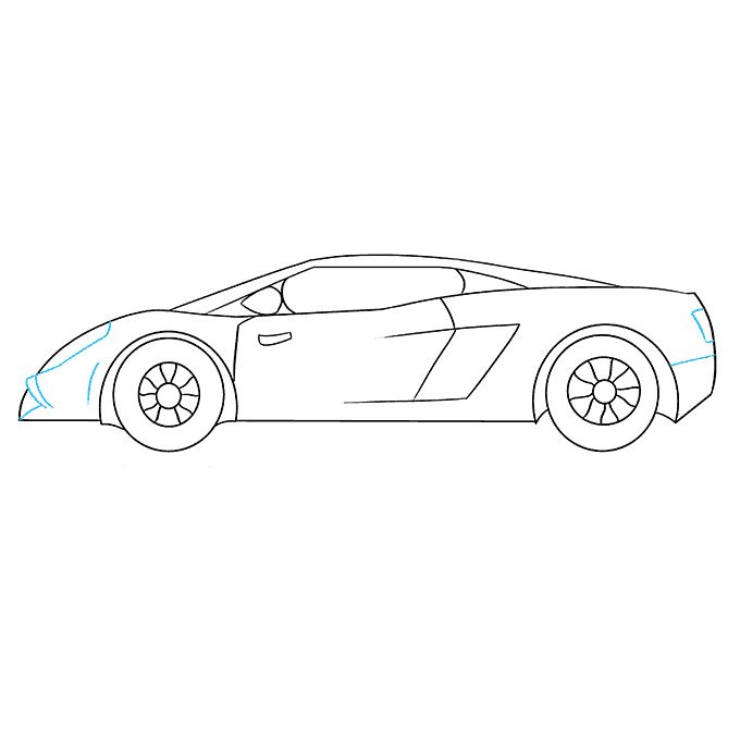 How to Draw Lamborghini: Step 9