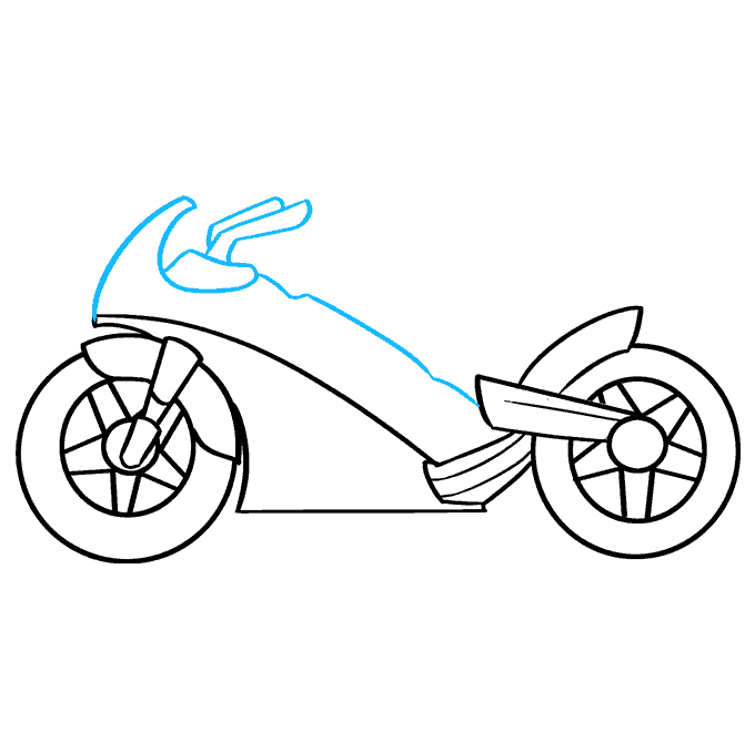 How to Draw Motorcycle: Step 6