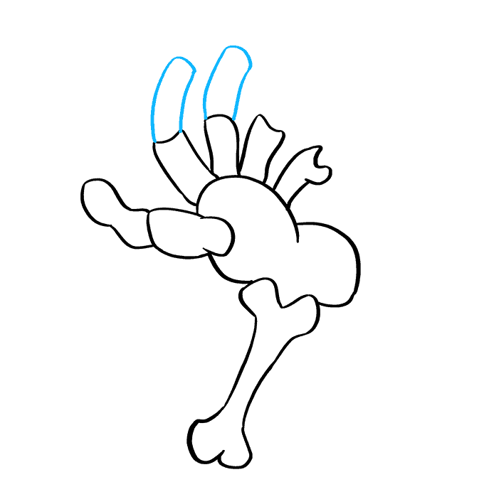 How to Draw Skeleton Hand: Step 7