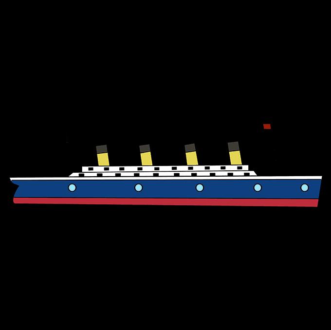 How to Draw Titanic: Step 10