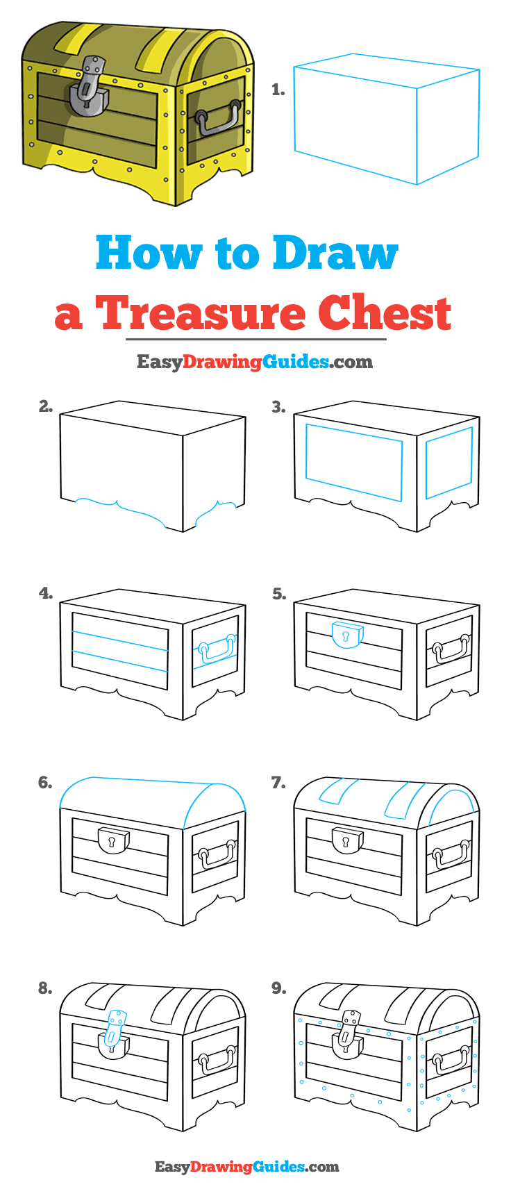 How to Draw Treasure Chest