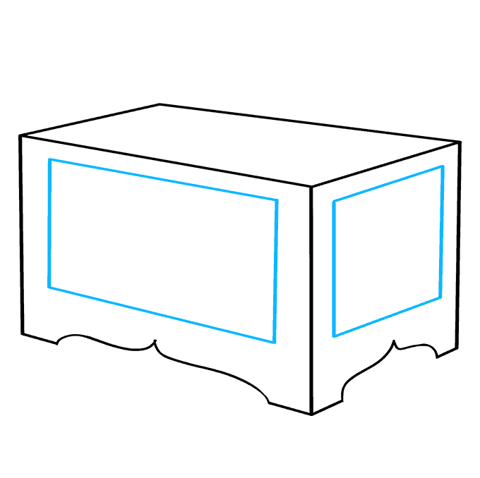 How to Draw Treasure Chest: Step 3