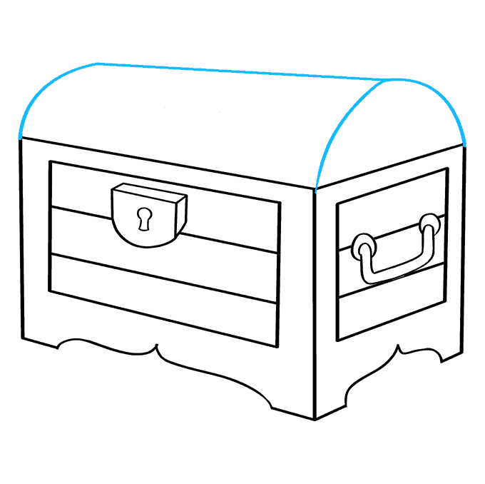 How to Draw Treasure Chest: Step 6