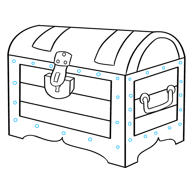 How to Draw Treasure Chest: Step 9