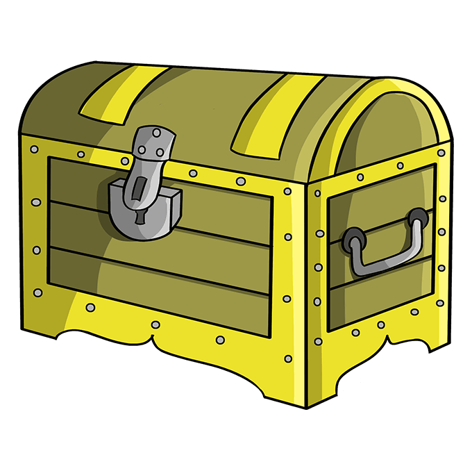How to Draw Treasure Chest: Step 10
