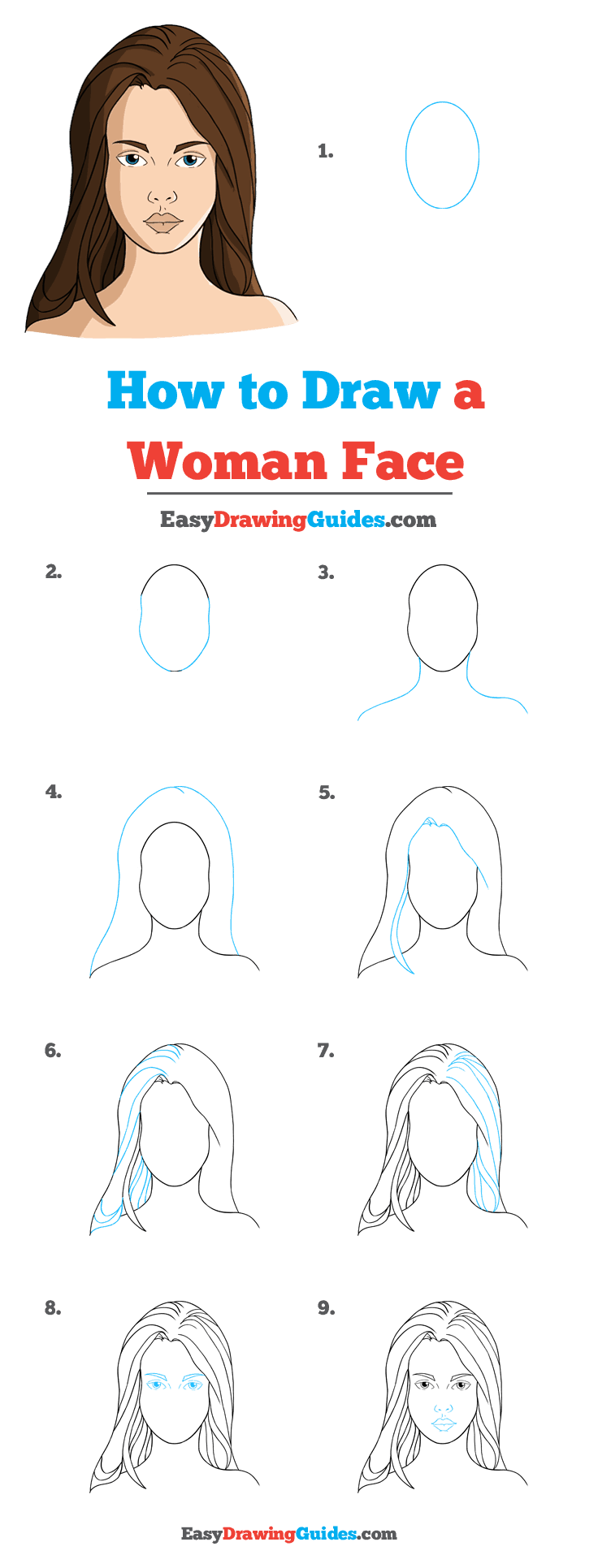 How to Draw Woman's Face