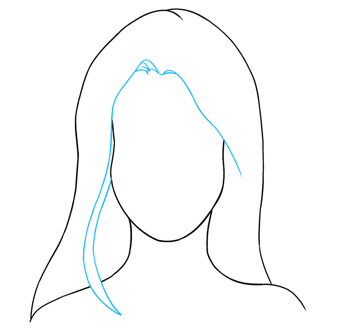 How to Draw Woman's Face: Step 5