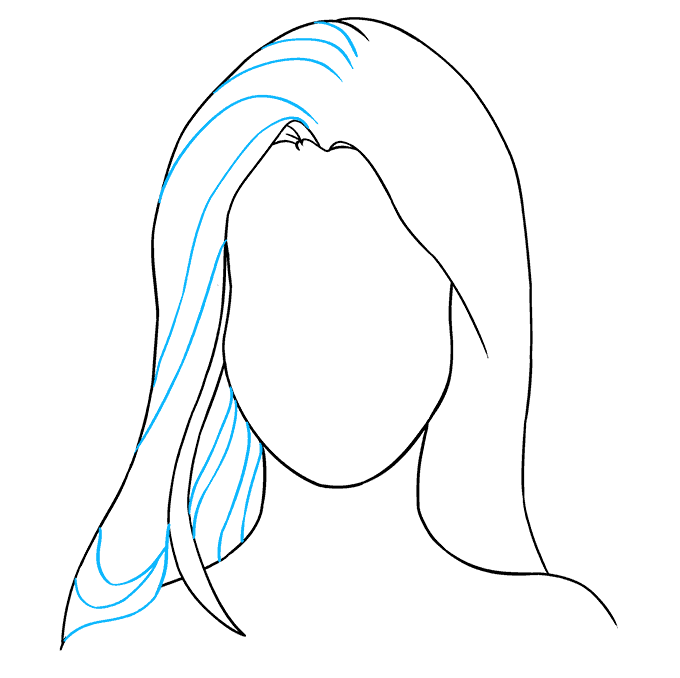 How to Draw Woman's Face: Step 6