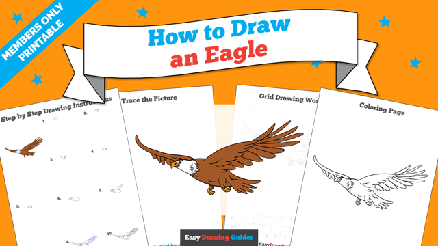 Printables thumbnail: How to draw an Eagle