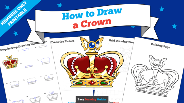 download a printable PDF of Crown drawing tutorial