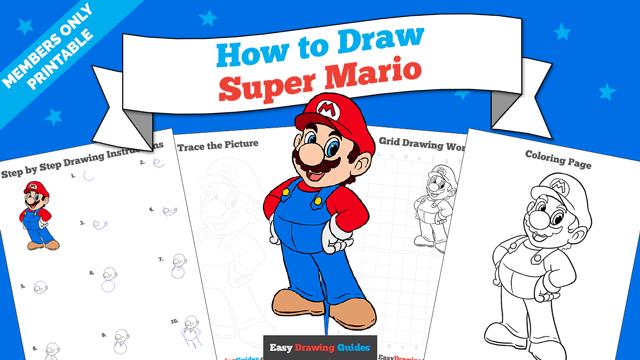 download a printable PDF of Super Mario drawing tutorial