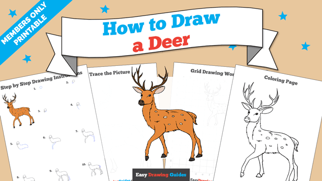 Printables thumbnail: How to draw a Deer