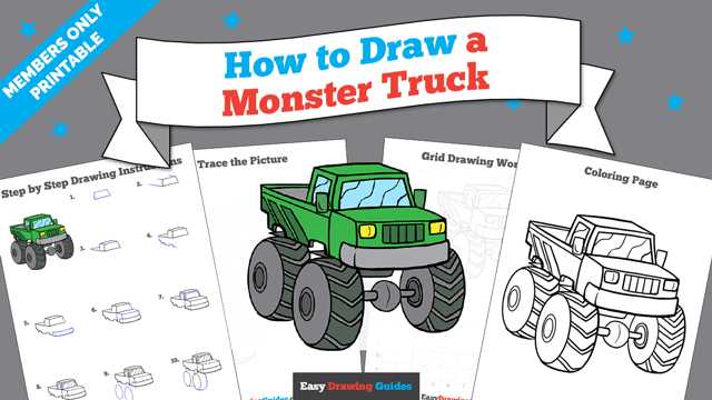 download a printable PDF of Monster Truck drawing tutorial