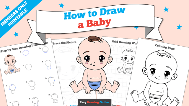Printables thumbnail: How to draw a Baby