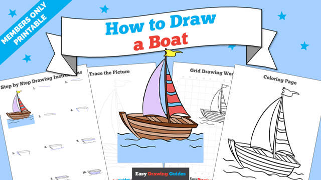 download a printable PDF of Boat drawing tutorial