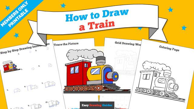 Printables thumbnail: How to draw a Train
