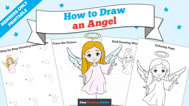download a printable PDF of Angel drawing tutorial
