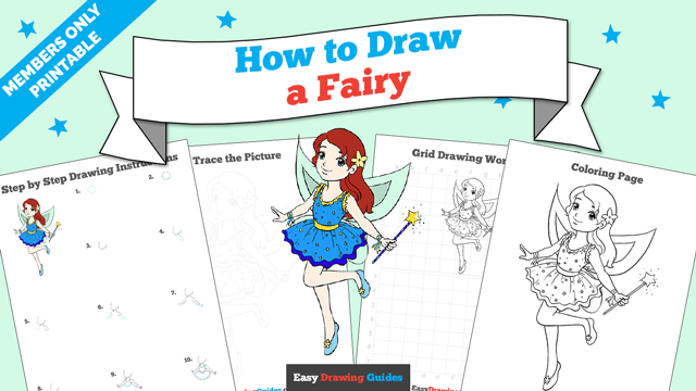 download a printable PDF of Fairy drawing tutorial