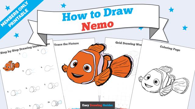 Printables thumbnail: How to draw Nemo