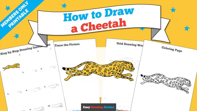Printables thumbnail: How to draw a Cheetah