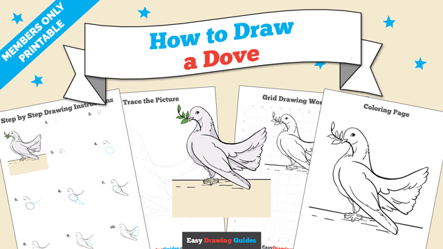 download a printable PDF of Dove drawing tutorial