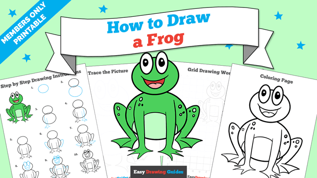 download a printable PDF of Frog drawing tutorial