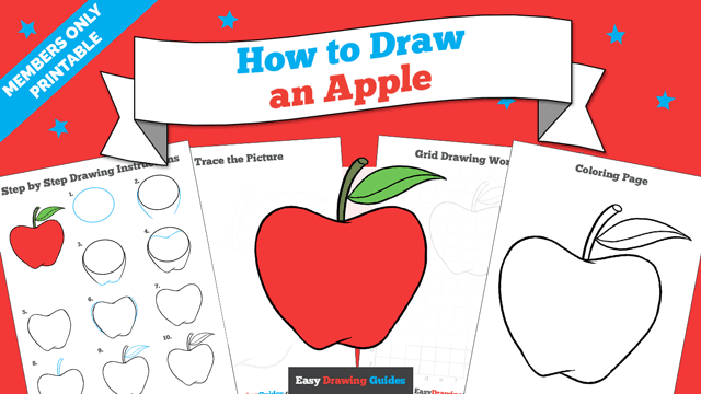 download a printable PDF of Apple drawing tutorial