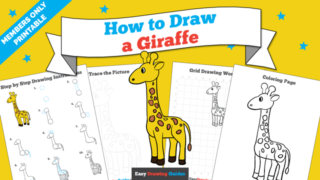 download a printable PDF of Giraffe drawing tutorial