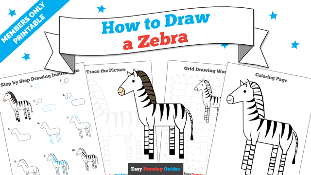 download a printable PDF of Zebra drawing tutorial