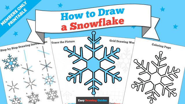 Printables thumbnail: How to draw a Snowflake