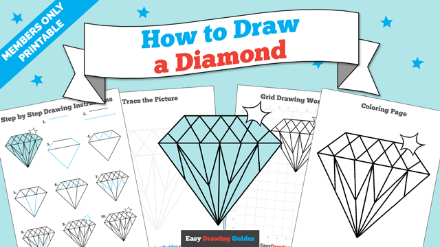 download a printable PDF of Diamond drawing tutorial