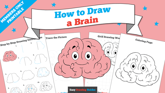 download a printable PDF of Brain drawing tutorial