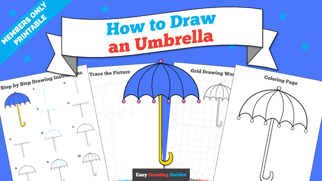 download a printable PDF of Umbrella drawing tutorial