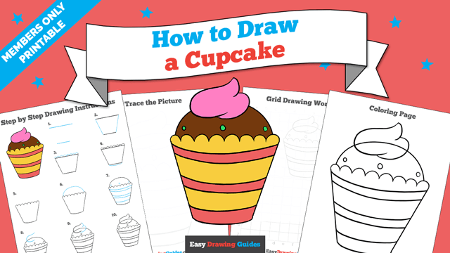 download a printable PDF of Pancakes drawing tutorial