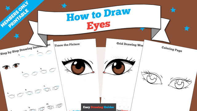 download a printable PDF of Eyes drawing tutorial