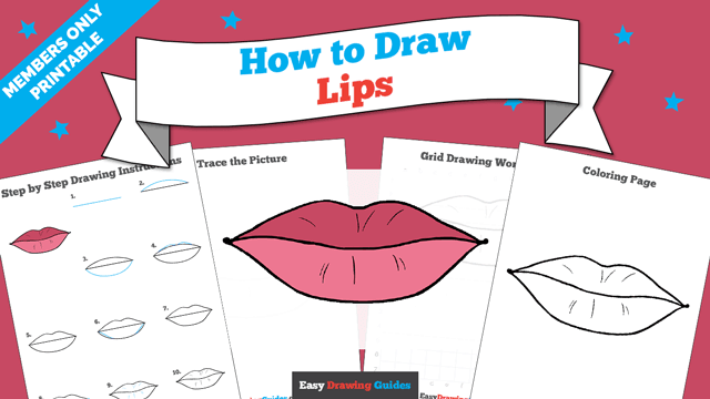 How To Draw Lips Really Easy Drawing Tutorial