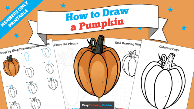 download a printable PDF of Pumpkin drawing tutorial