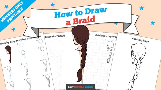 download a printable PDF of Braid drawing tutorial