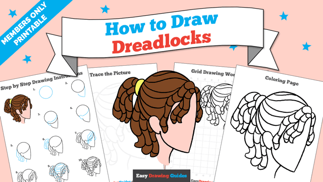 download a printable PDF of Dreadlocks drawing tutorial