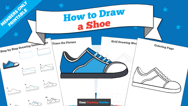 download a printable PDF of Shoe drawing tutorial