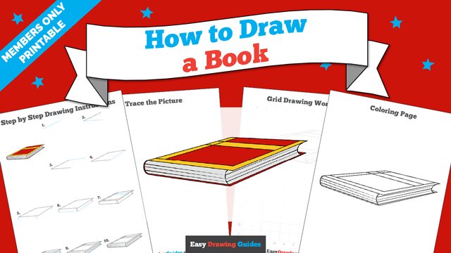 download a printable PDF of Book drawing tutorial