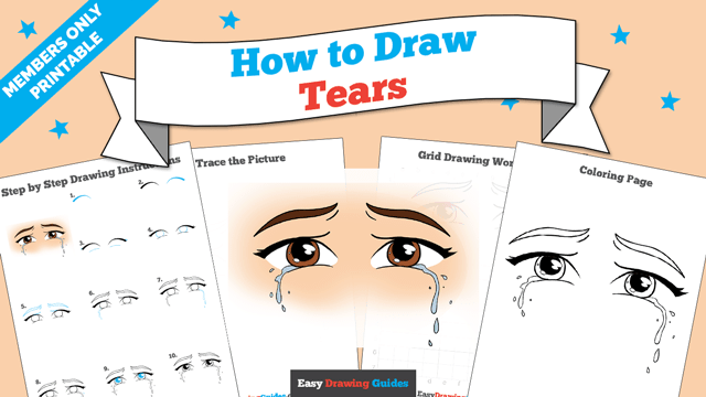 download a printable PDF of Tears drawing tutorial