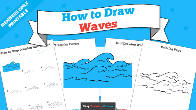 download a printable PDF of Waves drawing tutorial
