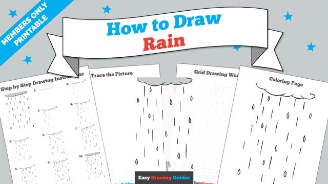 download a printable PDF of Rain drawing tutorial