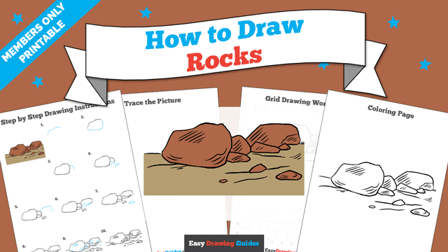 download a printable PDF of Rocks drawing tutorial