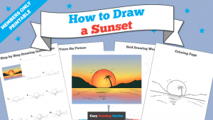 Printables thumbnail: How to draw a Sunset