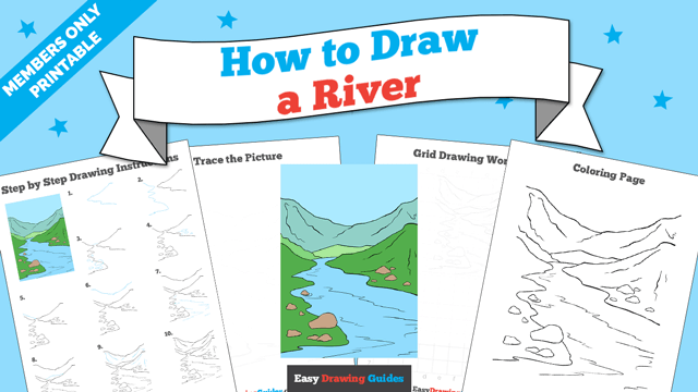 download a printable PDF of River drawing tutorial