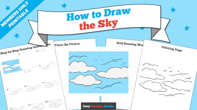 download a printable PDF of Sky drawing tutorial