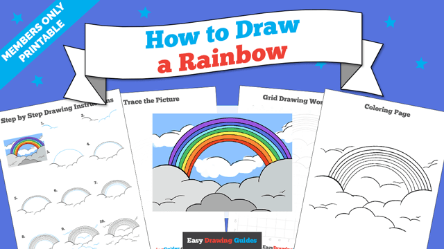 download a printable PDF of Rainbow drawing tutorial